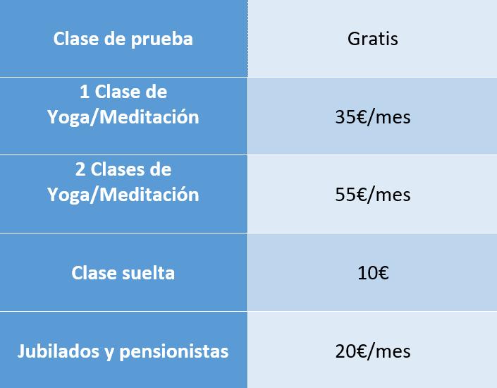 precios clases yoga meditacion manresa